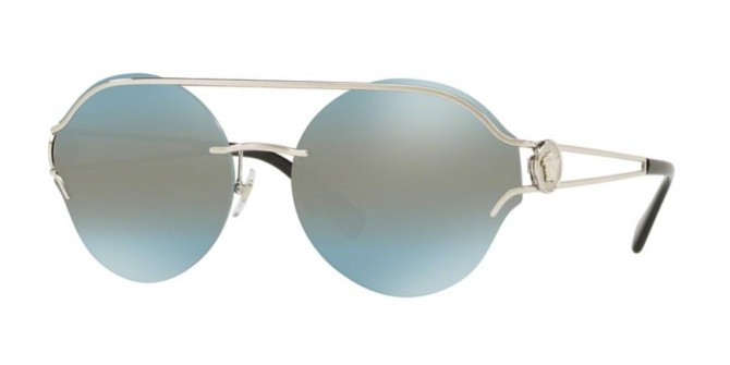 Versace 0VE2184 10007C  Silver - Blue Central Mirror Silver