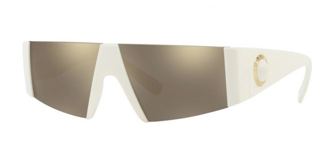 Versace 0VE4360 401/5A  White - Light Brown Mirror Gold