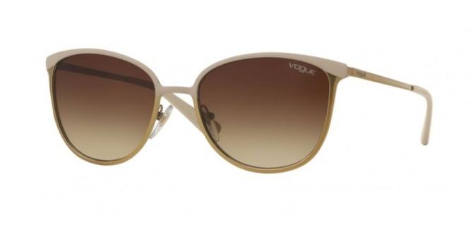 Vogue 0VO4002S 996S13 Matte Beige Brushed Gold - Brown Gradient