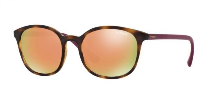 Vogue 0VO5051S W656/5R Dark Havana - Grey Mirror Rose Gold