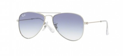 Ray Ban Junior 0RJ9506S JUNIOR AVIATOR 212/19 Silver - Clear Gradient Light Blue