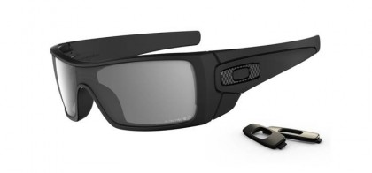 Oakley Polarized Batwolf 9101-04 MATTE BLACK / GREY POLARIZED