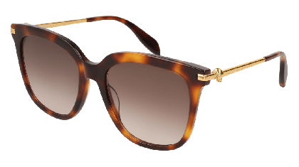Alexander McQueen AM0107S-002 Havana Gold - Gradient Brown