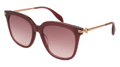 Alexander McQueen AM0107S-003 Burgundy Gold - Gradient Pink