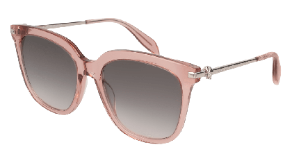 Alexander McQueen AM0107S-004 Transparent Pink Silver - Grey