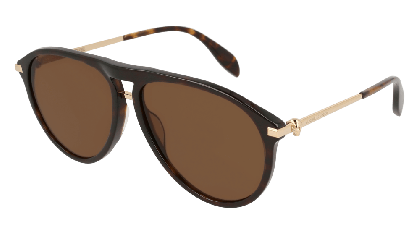 Alexander McQueen AM0134S-002 Havana Gold - Gradient Brown
