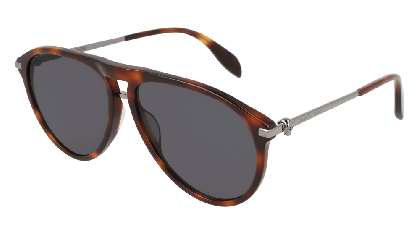 Alexander McQueen AM0134S-003 Havana Ruthenium - Gradient Grey