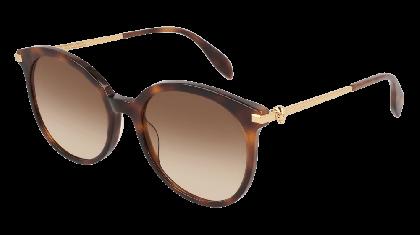 Alexander McQueen AM0135S-002 Havana Gold - Gradient Brown