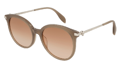 Alexander McQueen AM0135S-003 Grey Silver - Gradient Brown