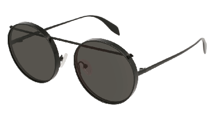Alexander McQueen AM0137S-002 Matte Black - Grey
