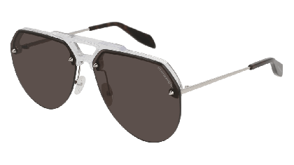 Alexander McQueen AM0139S-001 Crystal Silver - Gradient Grey