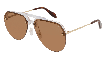 Alexander McQueen AM0139S-004 Crystal Gold - Gradient Brown