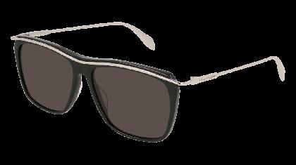 Alexander McQueen AM0143S-003 Black Silver - Silver Grey