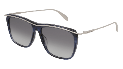 Alexander McQueen AM0143S-008 Havana Ruthenium - Ruthenium Blue