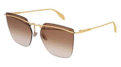 Alexander McQueen AM0144S-001 Gold - Gradient Brown