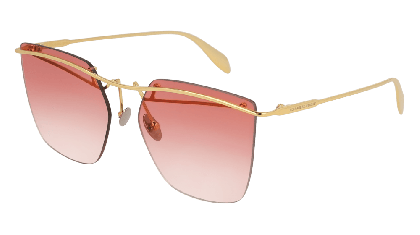 Alexander McQueen AM0144S-002 Gold - Gradient Red