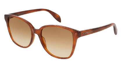 Alexander McQueen AM0145S-002 Havana - Yellow Brown