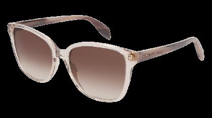 Alexander McQueen AM0145S-004 Transparent Pink Havana - Brown