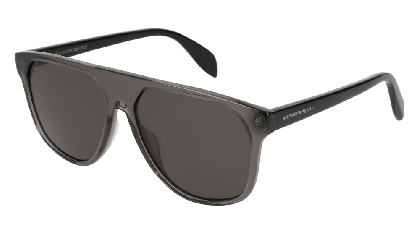Alexander McQueen AM0146S-001 Transparent Grey Black - Grey