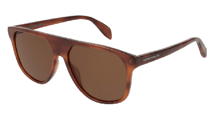 Alexander McQueen AM0146S-002 Havana - Yellow Brown