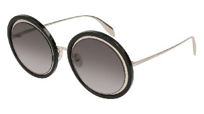 Alexander McQueen AM0150S-002 Silver - Black Grey