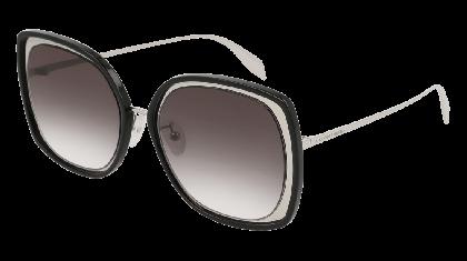 Alexander McQueen AM0151S-002 Silver - Black Grey