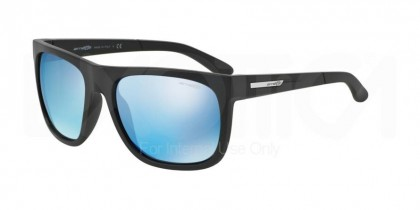 Arnette 0AN4143 FIRE DRILL 01/55 Matte Black - Blue Mirror