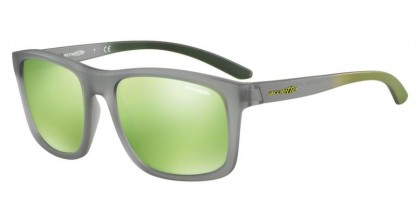 Arnette 0AN4233 COMPLEMENTARY 24238N Matte Transparent Grey - Light Green Mirror Green