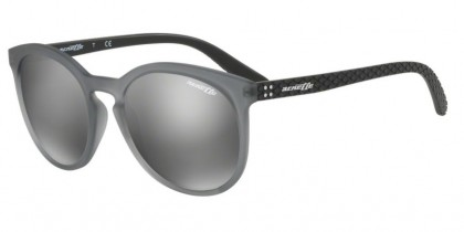 Arnette 0AN4241 CHENGA R 25076G Matte Transparent Grey - Grey Mirror Silver
