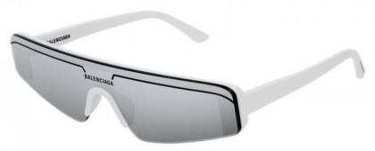 Balenciaga BB0003S-002 White - Silver