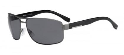 Hugo Boss - BOSS 0668 / S BZS  (TD) Black - Grey Solid Tint Polarized