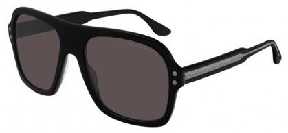 Bottega Veneta BV0239S-001 Black Grey - Grey
