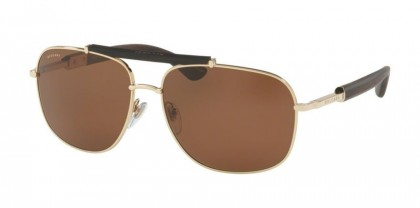 Bulgari 0BV5040K 393/83 Gold Plated - Brown Polarized