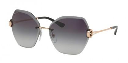 Bvlgari 0BV6105B 20148G Pink Gold - Grey Gradient