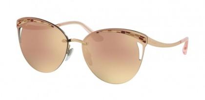 Bvlgari 0BV6110 20144Z Pink Gold - Grey Mirror Rose Gold