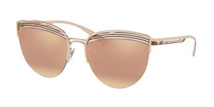 Bvlgari 0BV6118 20374Z Pink Gold/Matte Bronze - Grey Mirror Rose Gold