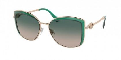 Bvlgari 0BV6128B 20142C Pink Gold/Emerald Green - Light Brown Gradient Green