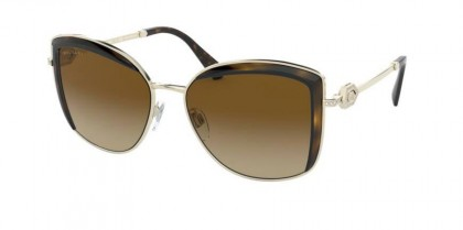 Bvlgari 0BV6128B 278/T5 Pale Gold/Dark Havana - Polar Brown Gradient