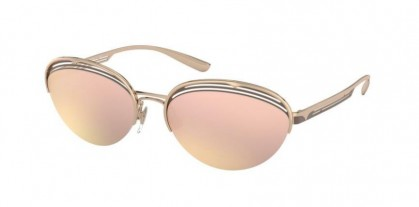 Bvlgari 0BV6131 20374Z Pink Gold - Grey Mirror Rose Gold