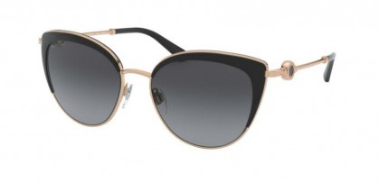 Bvlgari 0BV6133 2014T3 Pink Gold/Black - Polar Grey Gradient