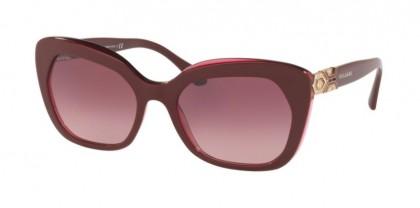 Bvlgari 0BV8213B 54698H Bordeaux On Transparent Red - Pink Gradient Dark Violet