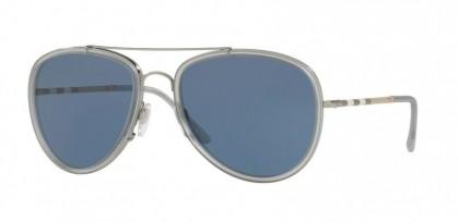 Burberry 0BE3090Q 100380 Gunmetal Matte Grey - Blue