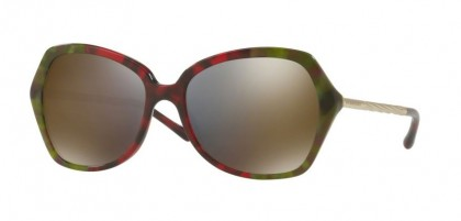 Burberry 0BE4193 36664T Havana Green Bordeaux Green - Dark Grey Mirror Gold