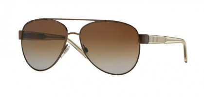 Burberry 0BE3084 1212T5 Brushed Brown - Brown Gradient Polarized