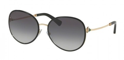 Bvlgari 0BV6106B 20338G Black Pink Gold - Grey Gradient