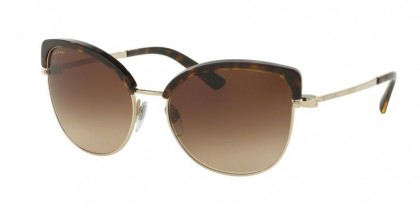 Bvlgari 0BV6082 278/13 Pale Gold Dark Havana - Brown Gradient