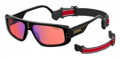 CARRERA 1022/S 71C/UZ Black Yellow - Red Flash Mirror