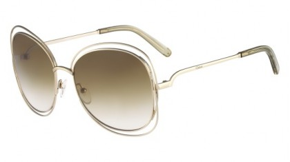 Chloé Carlina CE119S 733 Gold Green - Brown Green Shaded