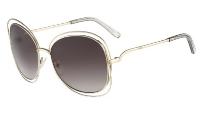 Chloé Carlina CE119S 734 Light Gold Grey - Smoke Shaded