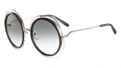 Chloé Carlina CE120S 731 Gold Transparent Grey - Grey Shaded